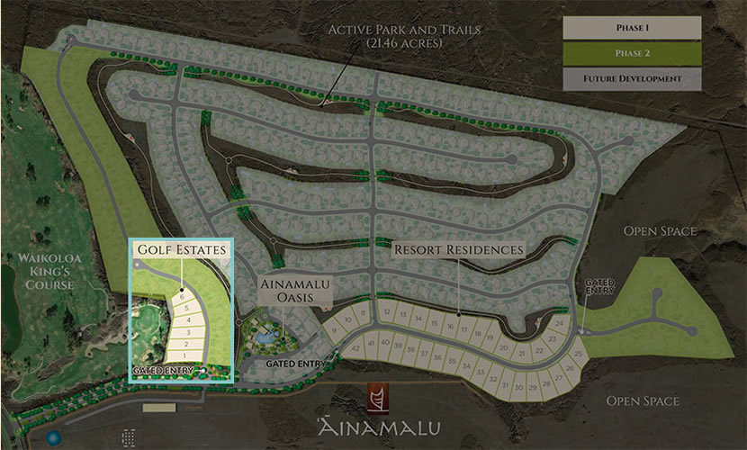Golf Estates Lot Map